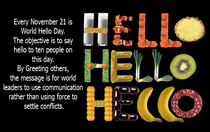 World Hello Day Images