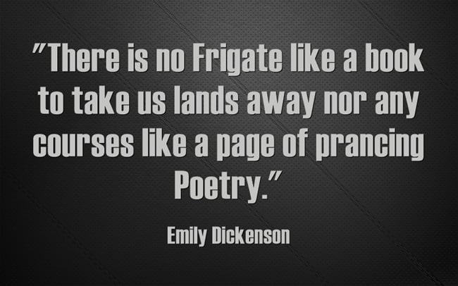 Poetry Day Quote