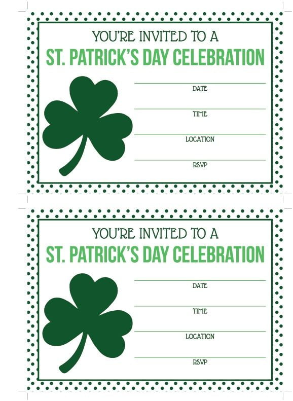 St Patrick's Day Party Invitations