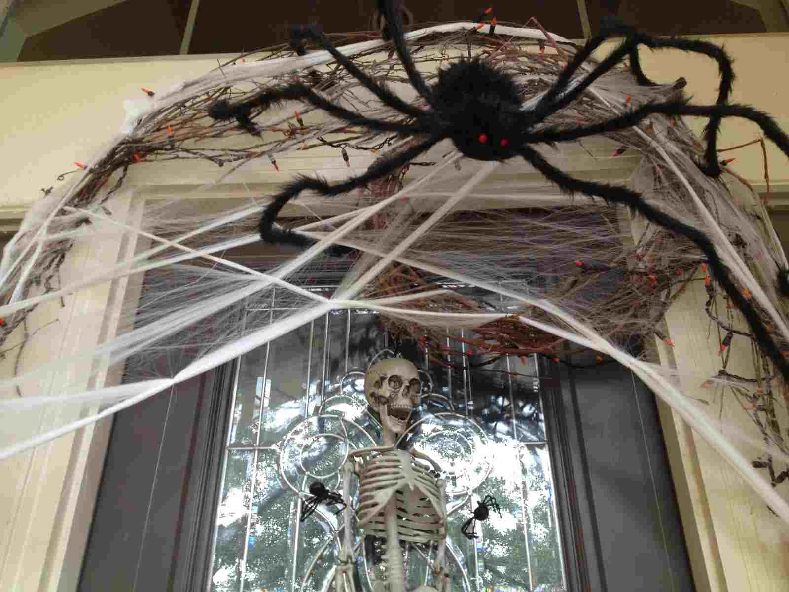Halloween Door Decoration Spider Web