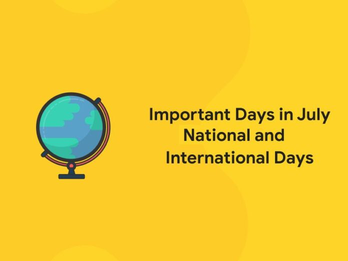 National and International Important Days In July